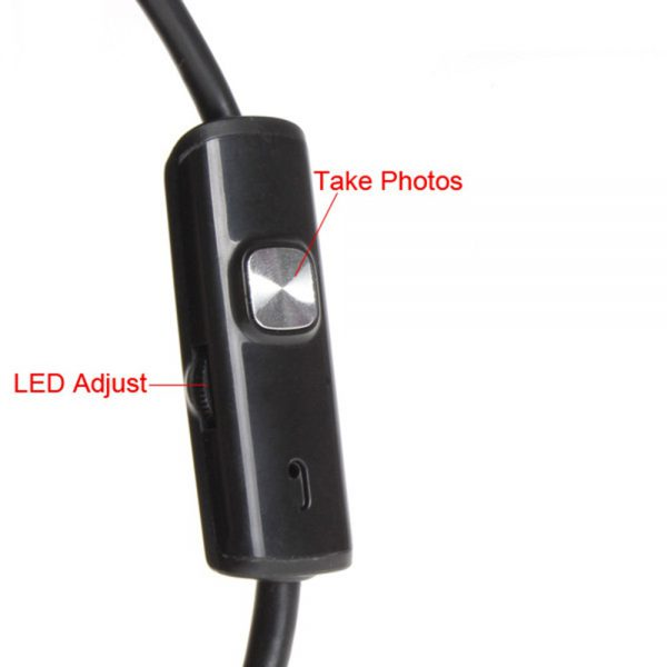 Camera endoscopica 3.5 mm, USB 5 metri, 6 LED-uri, Android