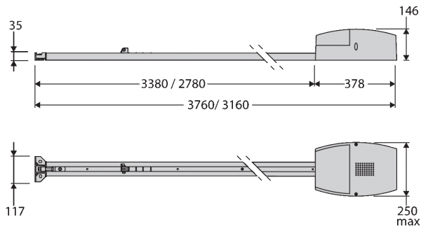 Dimensiuni BFT BOTTICELLI EOS120