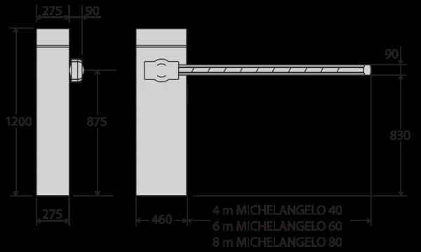Dimensiuni Michelangelo 40 michelangelo 60 michelangelo80
