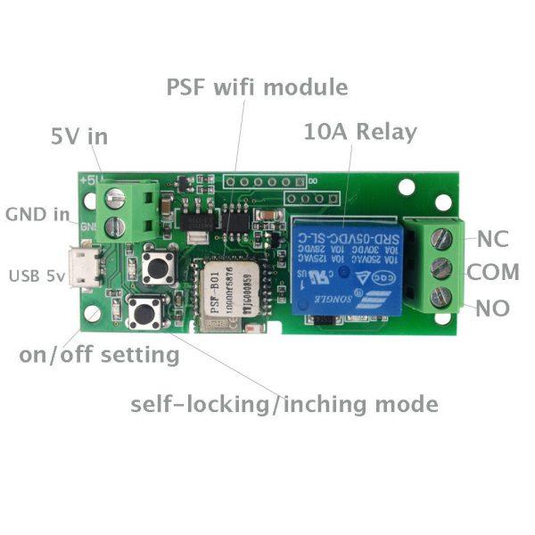 Switch wireless pentru controlarea automatizarilor pe pe telefon