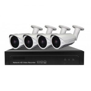 Winpossee WP-7404TS7 FullHD 1080P, 4 x camere IP Bullet POE 2 MP,senzor SONY307, Nightvision