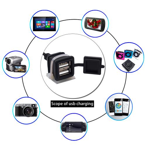 Priza moto Auto Road AR-0-183-01, DUAL USB, 3A 3