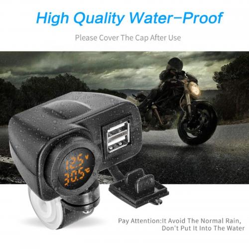 Priza moto Auto Road AR-W-YUK-R, DUAL USB, 3