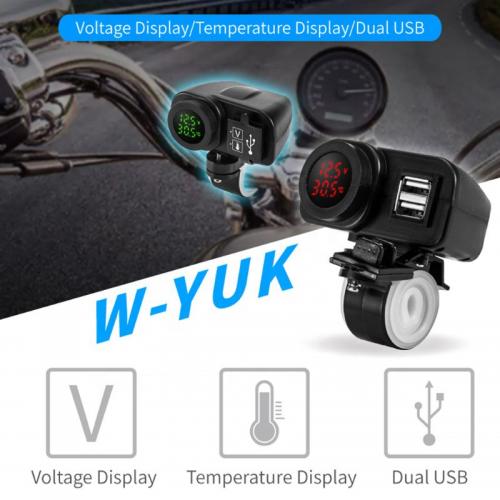 Priza moto Auto Road AR-W-YUK-R, DUAL USB, 4