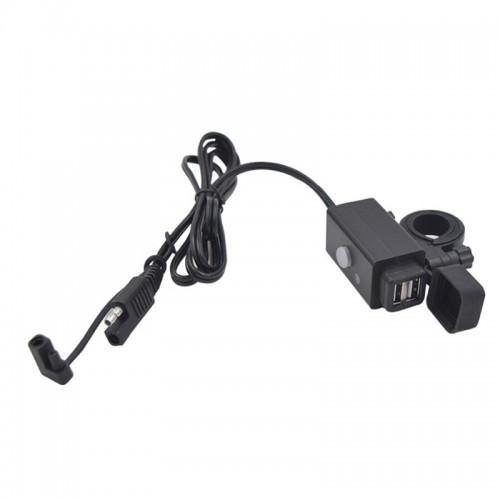 Priza moto Auto Road SAEU-5, DUAL USB, Fast Charge 3.1A 3