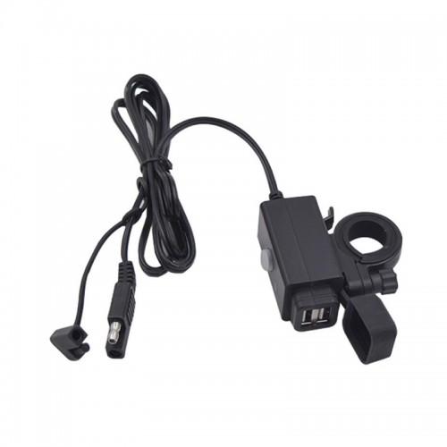 Priza moto Auto Road SAEU-5, DUAL USB, Fast Charge 3.1A 4