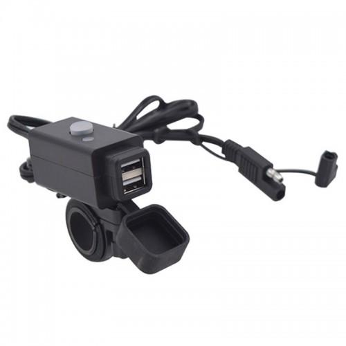 Priza moto Auto Road SAEU-5, DUAL USB, Fast Charge 3.1A 6