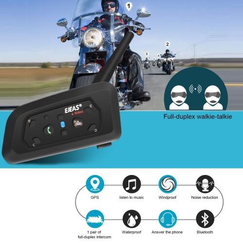 Sistem de comunicare moto EJEAS V6 Pro 7