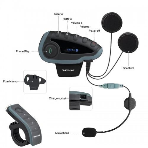 Sistem de comunicare moto EJEAS V8 2