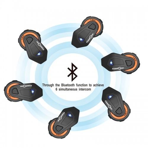 Sistem de comunicare moto Intercom FreedConn T-max 8