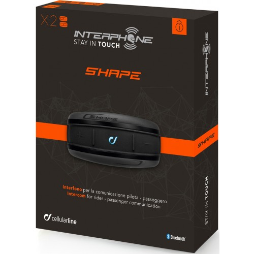 Sistem de comunicare moto Interphone Shape Dual Pack 3
