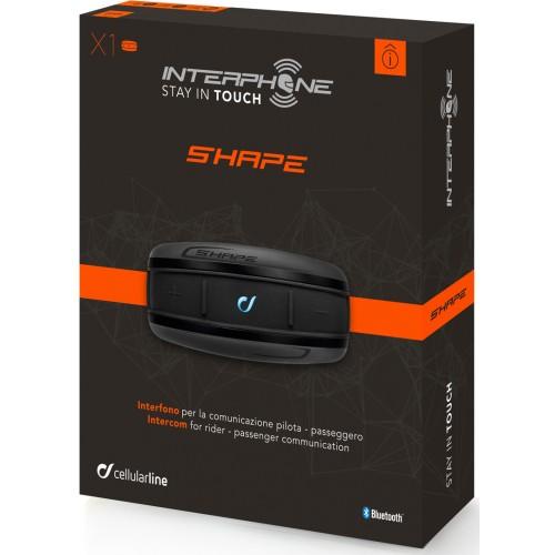 Sistem de comunicare moto Interphone Shape Single Pack 2