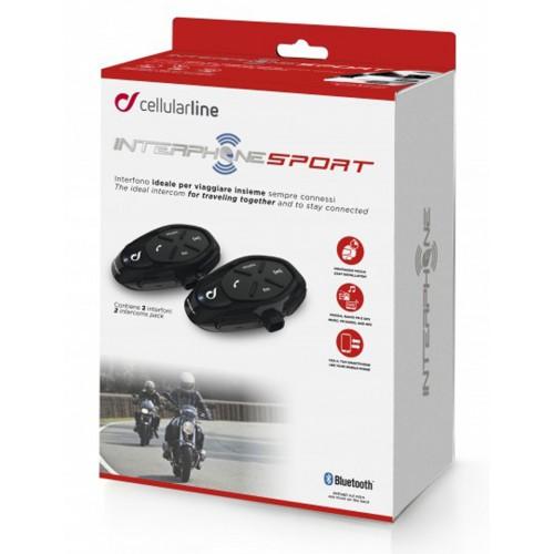 Sistem de comunicare moto Interphone Sport Dual Pack FM 3