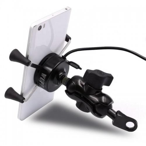 Suport telefon Auto Road AR-A3 cu priza USB de 2.1 A 2