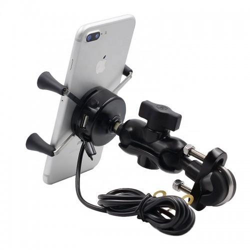 Suport telefon Auto Road AR-A3 cu priza USB de 2.1 A 3