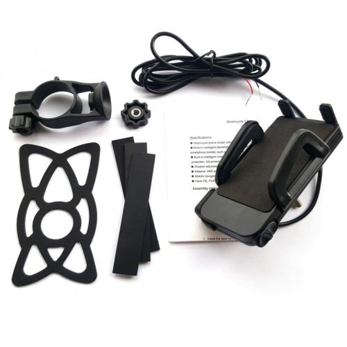 Suport telefon Auto Road ARK-ZC-01N cu priza USB de 2.4 A 2