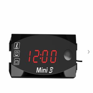Voltmetru Digital, indicator temperatura, ceas Auto Road AR-145-02 1