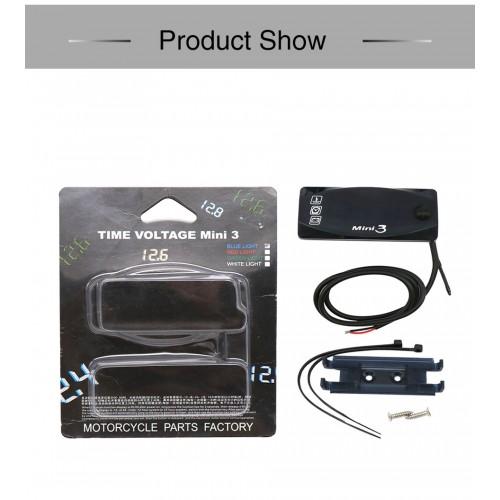 Voltmetru Digital, indicator temperatura, ceas Auto Road AR-145-02 5